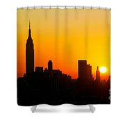 Ny  Sunrise For Thanksgiving Shower Curtain