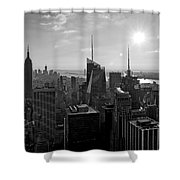 Ny Times Skyline Bw Shower Curtain