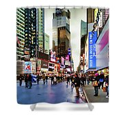 Ny Times Square Impressions I Shower Curtain