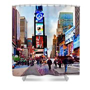 Ny Times Square Impressions IIi Shower Curtain