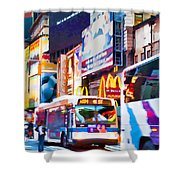 Ny Times Square Impressions Iv Shower Curtain