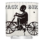 Nyack Bike Shower Curtain