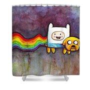 Nyan Time Shower Curtain