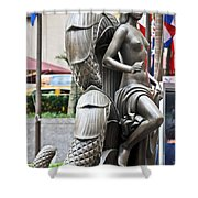 Nyc - Manhattan - Rockefeller Center - First Human Maiden Made F Shower Curtain