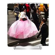Nyc Ball Gown Walk Shower Curtain