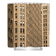 Nyc Brown Tones Shower Curtain