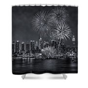Nyc Celebrate Fleet Week Bw Shower Curtain