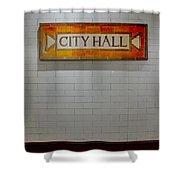 Nyc City Hall Subway Station Shower Curtain