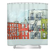 1st Ave Shower Curtain