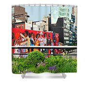 Nyc-high Line Billboard Art Shower Curtain