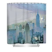 Nyc Morning Blues Shower Curtain