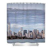 Nyc On A Cloudy Day Shower Curtain