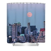 Nyc Pastel Supermoon Shower Curtain
