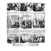 Nyc Police, 1859 Shower Curtain