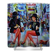 Nyc Red Chairs Shower Curtain