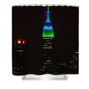 Nyc Salutes Seattle Seahawks Shower Curtain