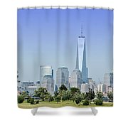 Nyc Skyline From The Park - Image 1666-01 Shower Curtain