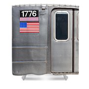 Nyc Subway Car 1776 Shower Curtain by Jannis Werner
