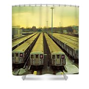 Nyc Subway Cars Shower Curtain