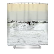 Nyc Surfing Area Shower Curtain