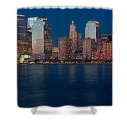 Nyc Twilght Pano Shower Curtain