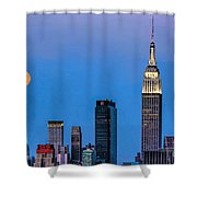 Nyc Under The Supermoon Shower Curtain