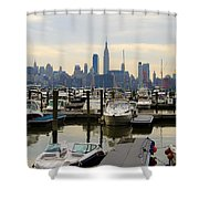 Nyc View From Lincoln Harbor Weehawkin Nj Shower Curtain