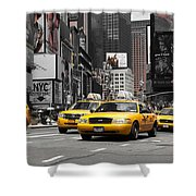 Nyc Yellow Cabs - Ck Shower Curtain
