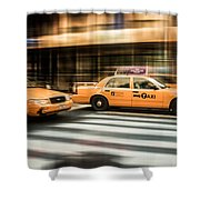 Nyc Yellow Cabs Shower Curtain