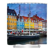 Nyhavn Canal Shower Curtain