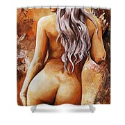 Nymph 02 Shower Curtain by Emerico Imre Toth