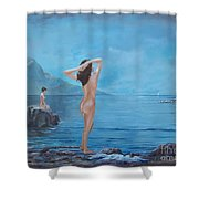 Nymphs Shower Curtain by Sinisa Saratlic