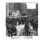 Nypd Bicycle Force Shower Curtain