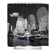 Nypd Blue  Shower Curtain by Rob Hawkins