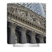Nyse  New York Stock Exchange Wall Street Shower Curtain