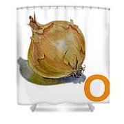 O Art Alphabet For Kids Room Shower Curtain