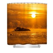 O Happy Day Shower Curtain by Davorin Mance