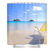 Oahu Lanikai Beach Shower Curtain