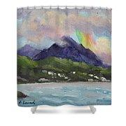 Oahu North Shore Rainbow Shower Curtain