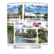 Oahu Postcard 2 Shower Curtain