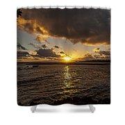 Oahu Sunrise Shower Curtain