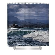 Oahu Surf Shower Curtain