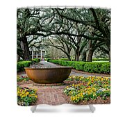 Oak Alley Landscape In Vacherie Louisiana Shower Curtain