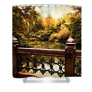 Oak Bridge Autumn Shower Curtain