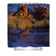 Oak Creek Crossing Sedona Arizona Shower Curtain