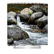 Oak Creek Water And Rocks Shower Curtain