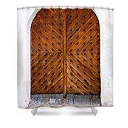 Oak Double Door Shower Curtain
