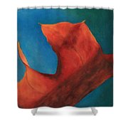 Oak Leaf Oil Painting Shower Curtain