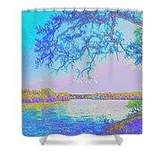 Oak On The Sacramento River - Pastel Shower Curtain