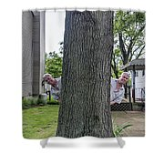 Oak Twins Shower Curtain
